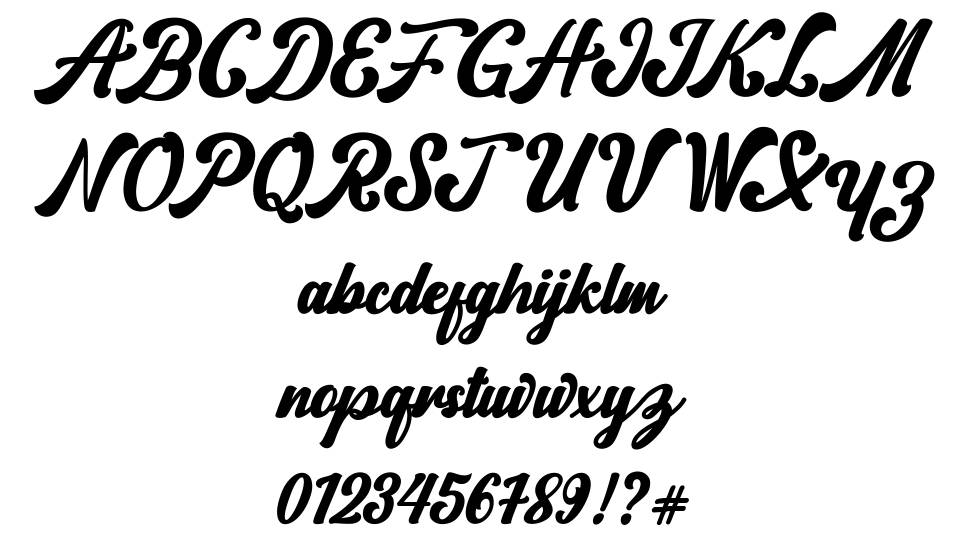Norty font