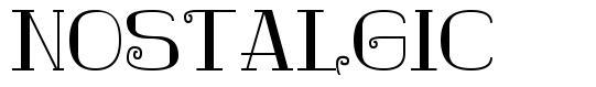 Nostalgic font