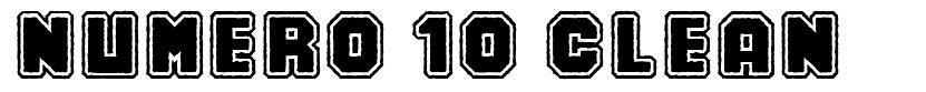 Numero 10 Clean шрифт