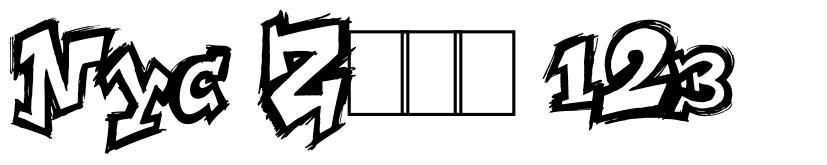 NYC Zone 123 字形