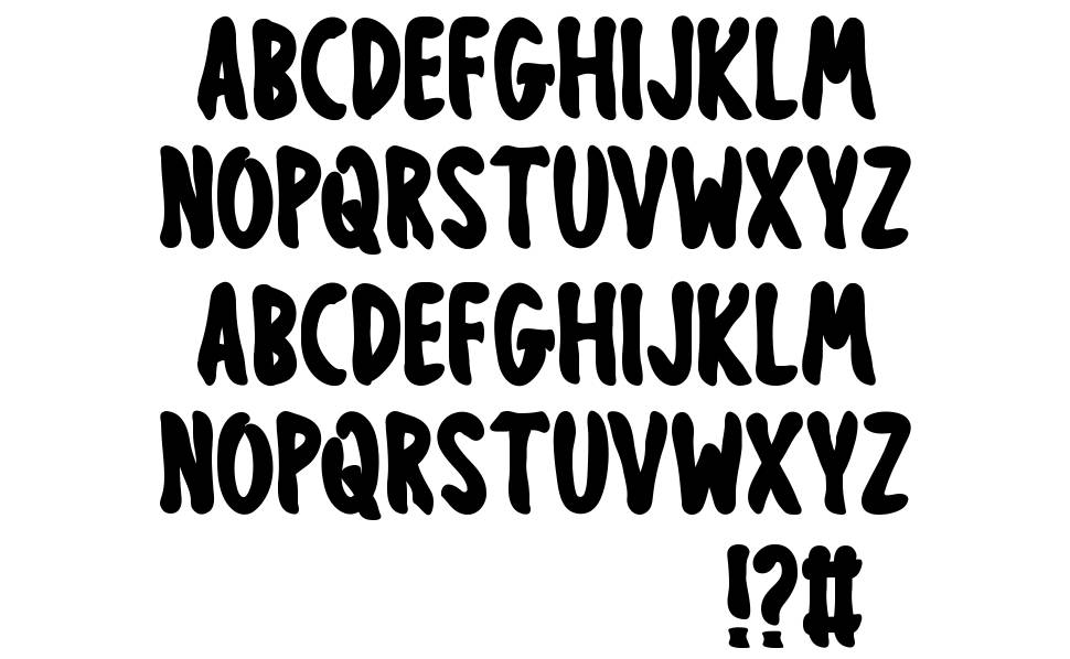Obsessed Halloween font