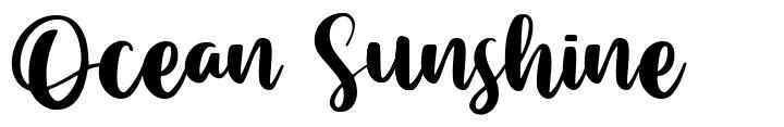Ocean Sunshine フォント