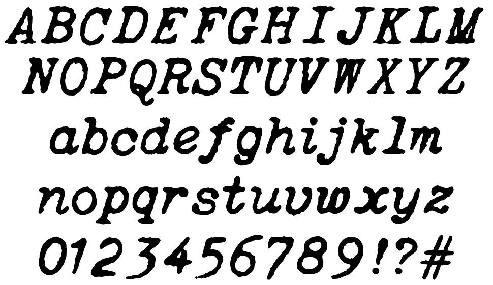Oceanside Typewriter font