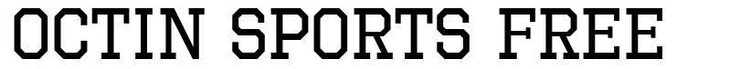 Octin Sports Free font