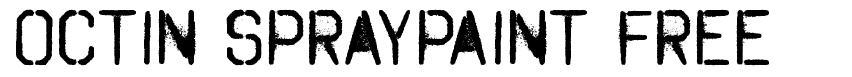 Octin Spraypaint Free 字形