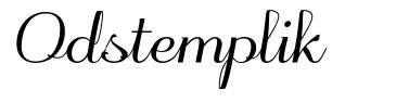 Odstemplik 字形