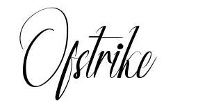 Ofstrike font