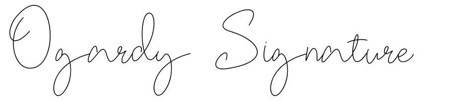 Ogardy Signature