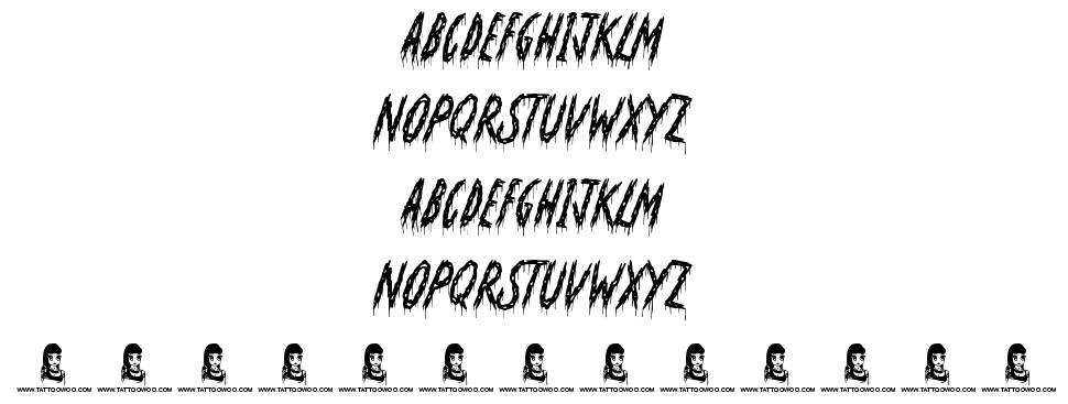 Oh No Not Again font