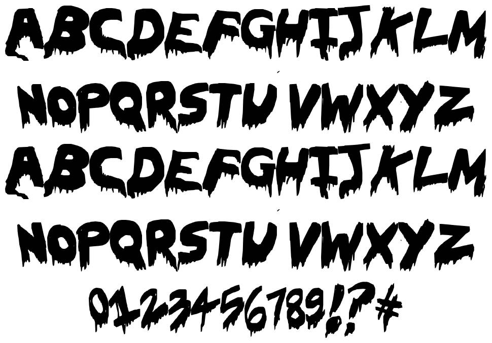 Oh The Horror font