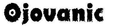 Ojovanic font