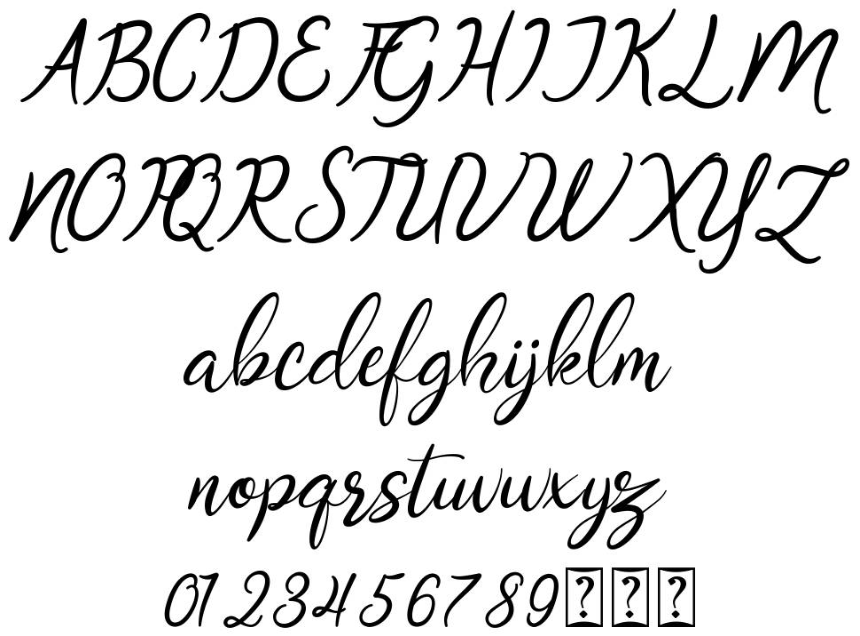 Oklahoma Script font