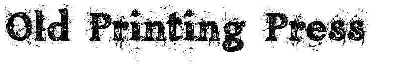 Old Printing Press font