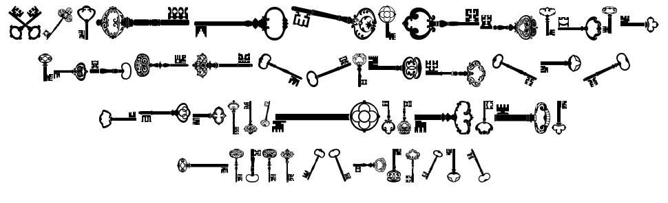 Old Retro Keys TFB font