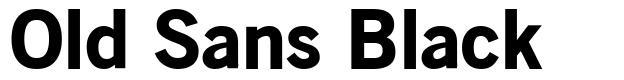 Old Sans Black 字形