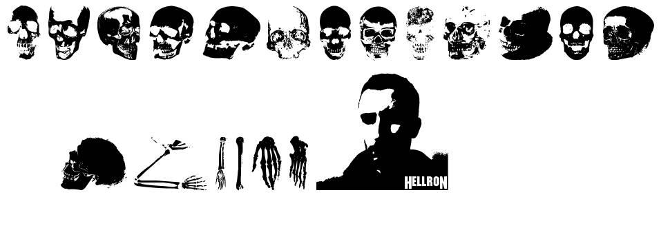 Old Skull Hellron font