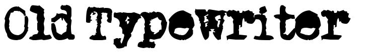 Old Typewriter 字形