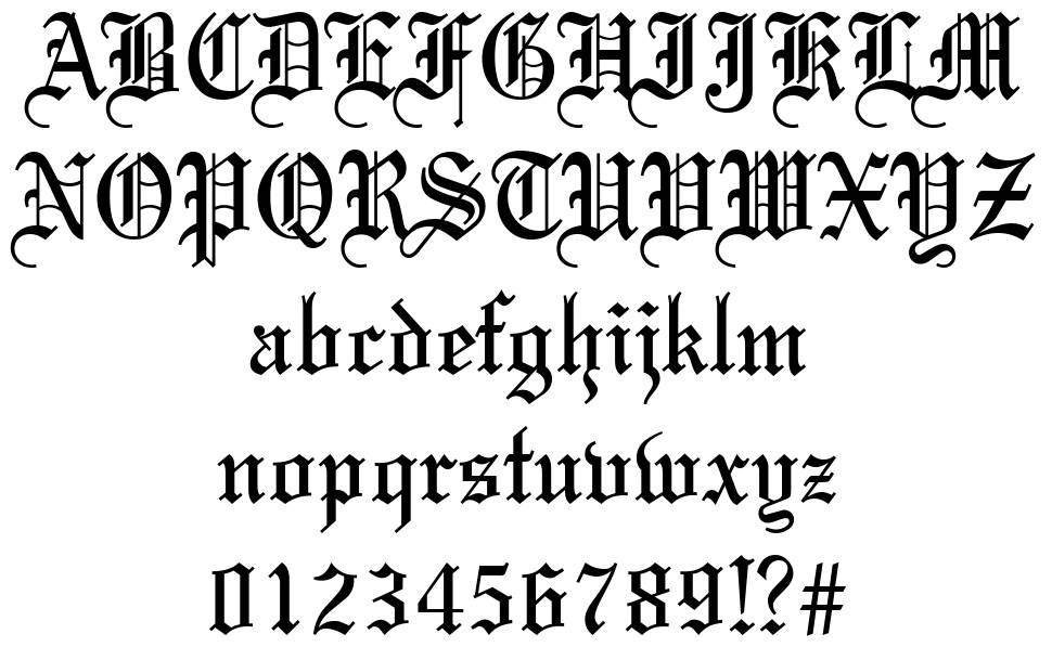 Old English Fonts 83