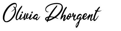 Olivia Dhorgent font