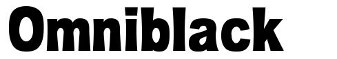 Omniblack font