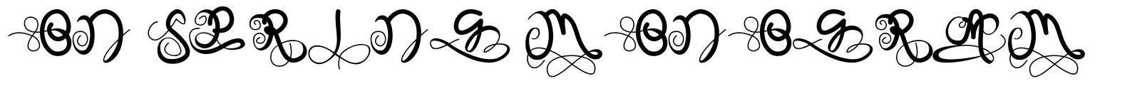 On Spring Monogram
