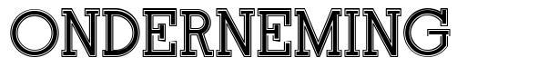 Onderneming font
