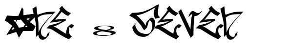 One 8 Seven 字形