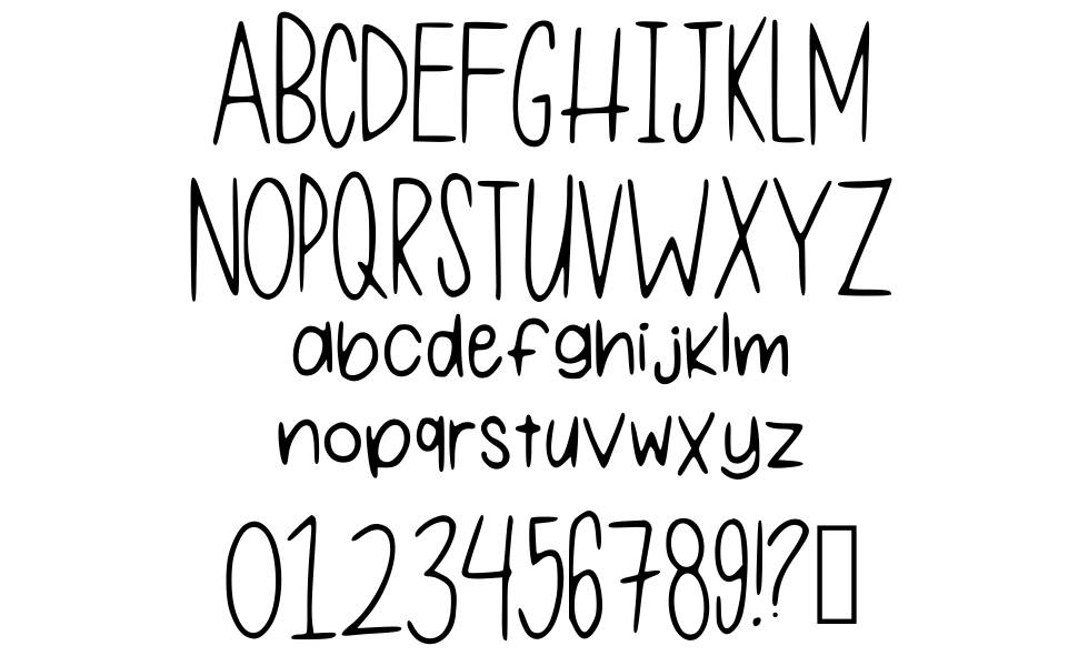One Of My First Fonts font