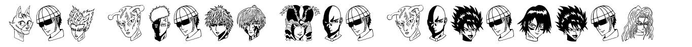One Punch Man Painting font