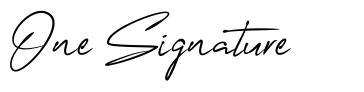 One Signature