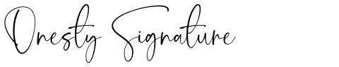 Onesty Signature