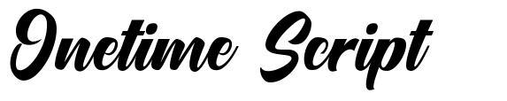 Onetime Script fuente