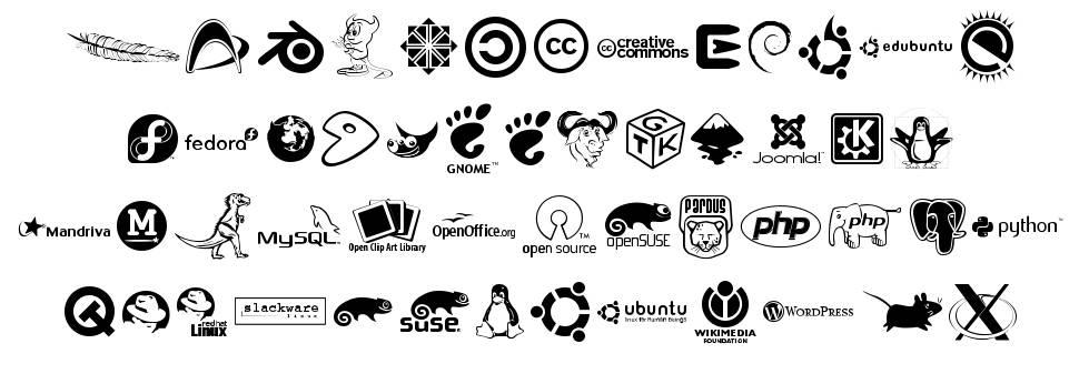 Open Logos schriftart