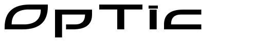 OpTic font