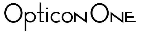 Opticon One font