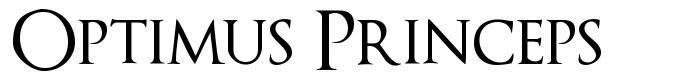 Optimus Princeps 字形