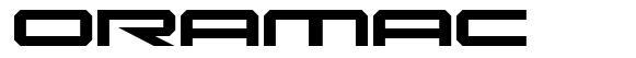 Oramac font