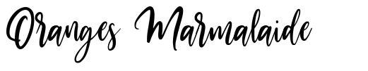 Oranges Marmalaide font