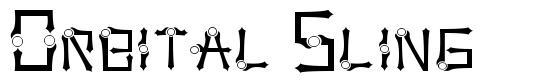 Orbital Sling font