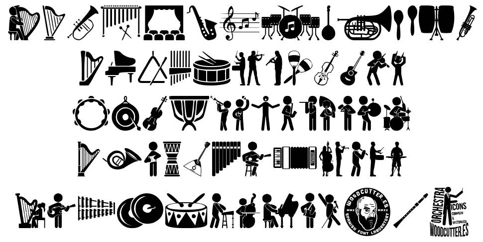Orchestra Icons font
