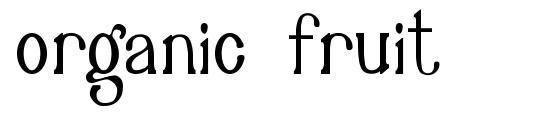 Organic Fruit font