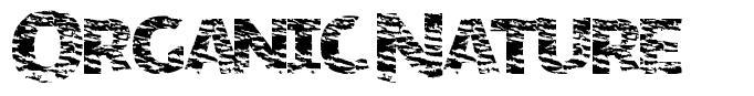 Organic Nature font