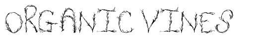 Organic Vines font