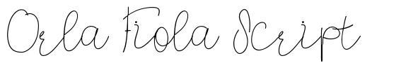 Orla Fiola Script