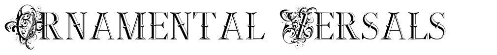 Ornamental Versals font