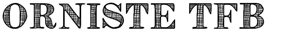 Orniste TFB font