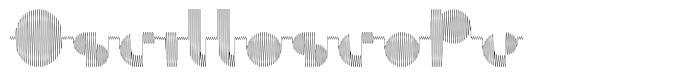 Oscilloscope písmo