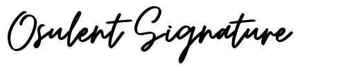 Osulent Signature