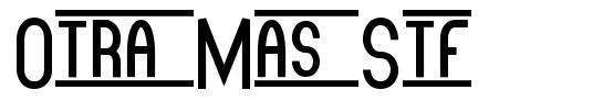 Otra Mas Stf font