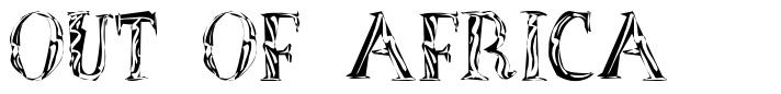 Out of Africa font